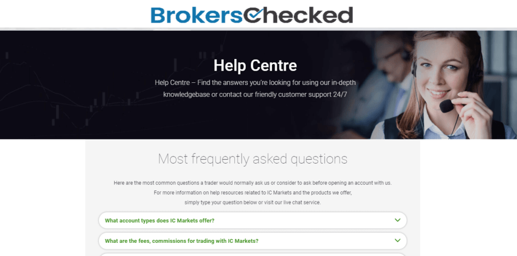 IC Markets Review – Customer Service