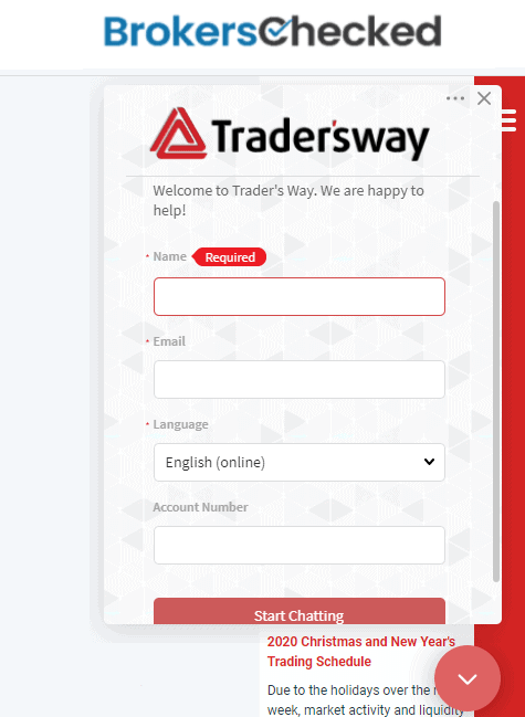 TradersWay Review – Customer Service