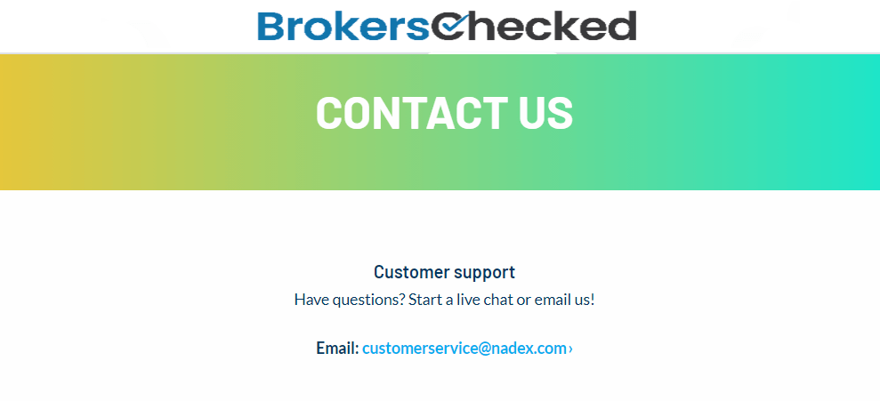 NADEX Review – Customer Service