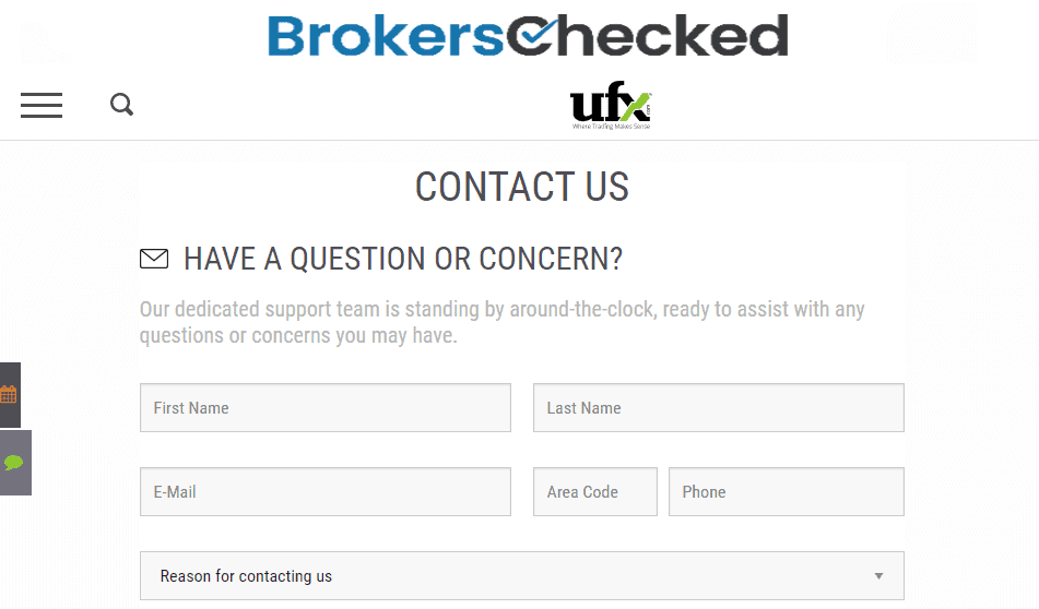 UFX Review – Customer Service